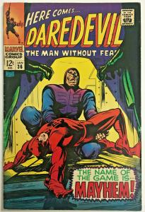DAREDEVIL#36 FN/VF 1968 MARVEL SILVER AGE COMICS