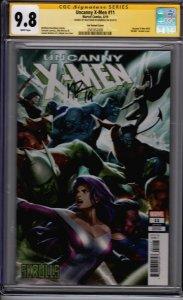 Uncanny  X-Men #11! Lee Skrulls Variant! CGC SS 9.8! Signed by Matthew Rosenberg