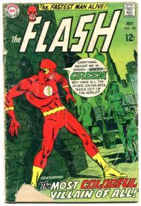 FLASH #188 1969-DC COMICS-WORLD GONE GREEN READING COPY FR
