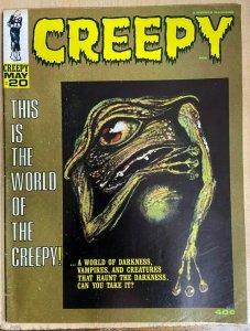 CREEPY #20 (Warren, 5/1968)  VERY GOOD PLUS (VG+) Reed Crandall! Gray Morrow!