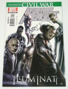New Avengers Illuminati #1 VF/NM signed by Brian Michael Bendis - marvel comics