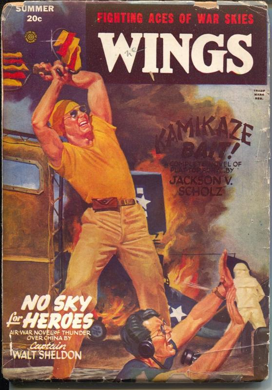 Wings-Summer 1946-Kamikaze Bait-Jackson Scholz-Wings Comics-G