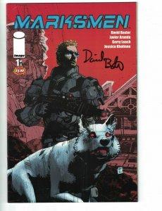Marksmen #1 VF signed by David Baxter - Image Comics - Dave Elliott 2011