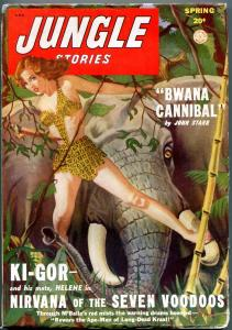 Jungle Stories Pulp Spring 1949- Ki-Gor- Bwana Cannibal- Fiction House FN-