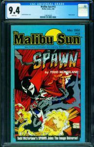 MALIBU SUN #13-CGC 9.4-1992-1st SPAWN-TODD MCFARLANE 1396764020