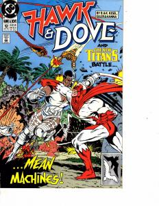 Lot Of 2 DC Comic Books Hawk & Dove #12 and Justice League Spectacular #1 ON1