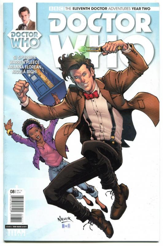 DOCTOR WHO #8 A, NM, 11th, Tardis, 2015, Titan, 1st, more DW in store, Sci-fi