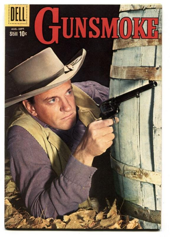 Gunsmoke #16 comic book 1959-Photo cover - James Arness Western Dell VF