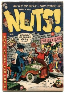 Nuts #1 1954- Great MAD imitator- Golden Age humor VG