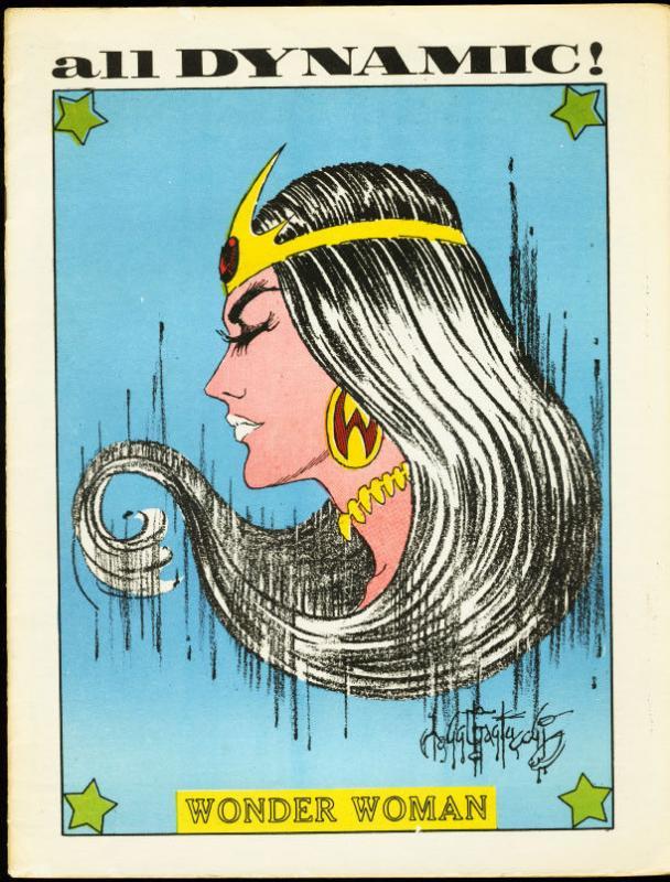ALL DYNAMIC #4-1970-WONDER WOMAN-COMICS FANZINE FN