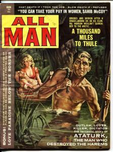 All Man April 1960-Swamp woman cover by Prezio-Harems-cheesecake