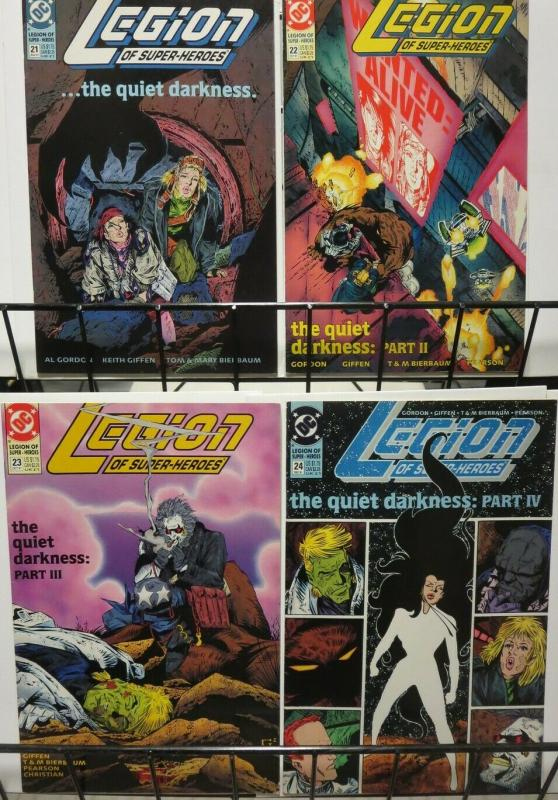 LEGION OF SUPER HEROES  21-24  Darkseid Quiet Darkness