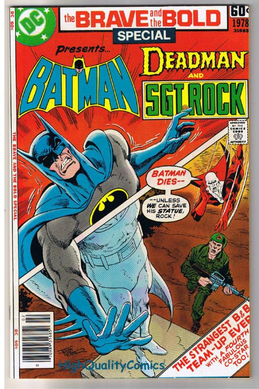 BRAVE and the BOLD SPECIAL,DC SERIES #8, Batman, NM- , 1978, Deadman, Sgt Rock