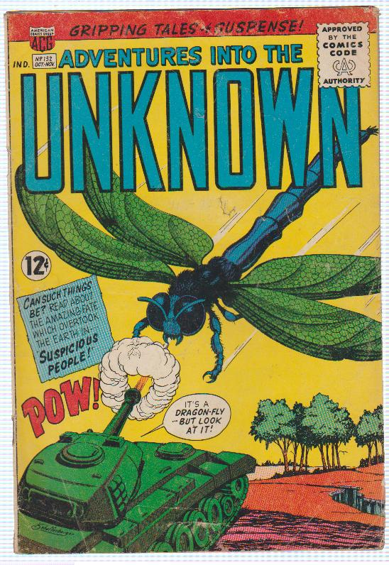 ADVENTURES INTO THE UNKNOWN #152, AMERICAN COMICS GROUP 1964 JOHNNY CRAIG ART