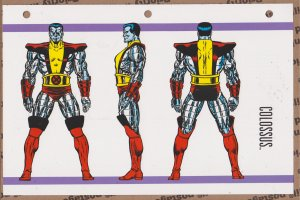 Official Handbook of the Marvel Universe Sheet- Colossus