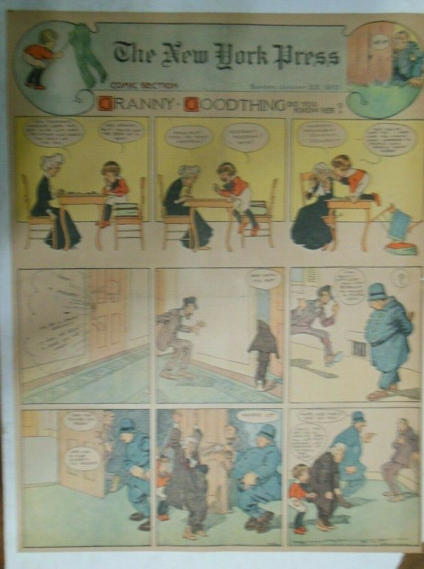 Granny Goodthing Sunday Page by Follett  from 1/23/1910 Full Page Size!