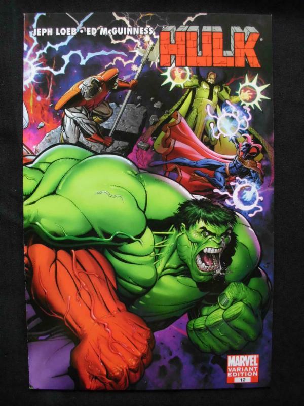 HULK #12 Variant, VF/NM, Jeph Loeb, Ed McGuinness, 2007 2009, more Hulk in store