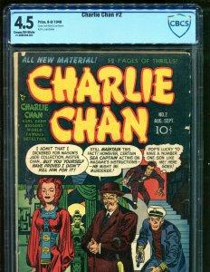 Charlie Chan 2 VG Plus 4.5 Prize Comics 1948 Golden Age Joe Simon Jack Kirby