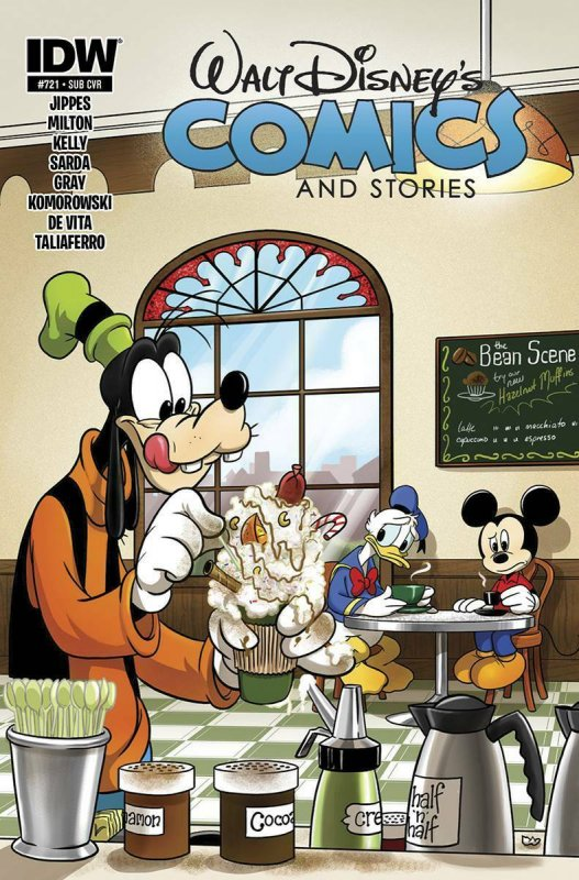 WALT DISNEY'S COMICS AND STORIES #721 SUBSCRIPTION AND REGULAR COVER SET NM.