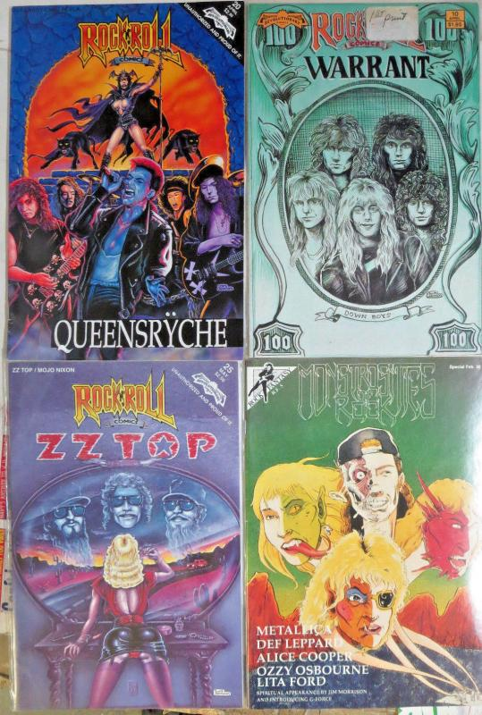 ROCK & ROLL Comics Hard Rock/Heavy Metal (except for ZZTop) Lot of 4 Books