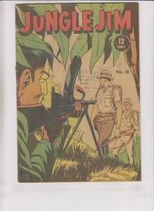 Jungle Jim #28 VG page comics - silver star - popeye in thimble theatre backups