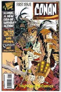 CONAN #1, NM+, Jimmy Palmiotti,  Death Pit, Sword, 1995, more in store