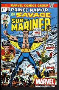 SUB-MARINER #67-MARVEL-HIGH GRADE-RARE 2ND PRINT-HTF-NM