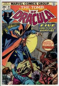 TOMB of DRACULA #28, Vampire, Blade, Wolfman, 1972, VG+