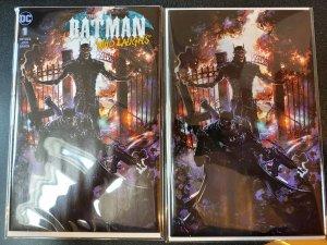 Batman Who Laughs 1 Clayton Crain Set Limited To 500  edition SCORPION COMICS