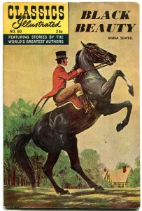 Classics Illustrated #60 HRN 166-Black Beauty- Double cover!!!