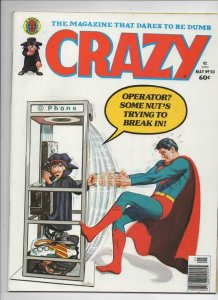 CRAZY #50 Magazine, VF, Superman, Hulk, Howard the Duck, 1973 1979,more in store
