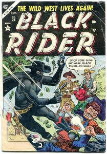 BLACK RIDER #24 1954-GOLDEN AGE WESTERN-JOE MANEELY ART FR