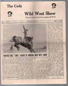 Buffalo Bill Cody Wild West Show Program #1 1960's-1st issue-pix  info-G/VG
