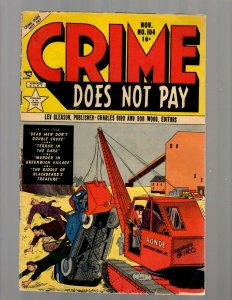Crime Does Not Pay # 104 VG/FN Lev Gleason Golden Age Comic Book Biro Wood JK7