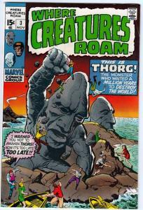 Where Creatures Roam #3 (Nov-70) VF High-Grade Khan