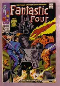 FANTASTIC FOUR #80 1968-THE THING-JACK KIRBY MARVEL ART FN