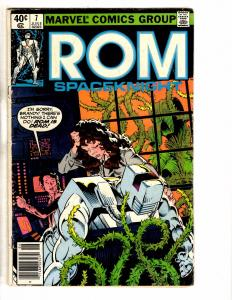 Lot Of 3 ROM Spaceknight Marvel Comic Books # 7 65 + Annual # 3 J234