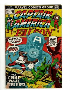 6 Captain America and the Falcon Marvel Comics # 158 166 167 169 179 183 J461