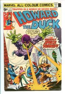 HOWARD THE DUCK #2 1976-MARVEL-FRANK BRUNNER-RARE UK EDITION-vf