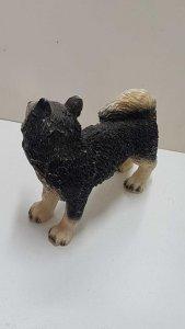 Figura de perro resina: Husky Siberiano de 8x10 cm