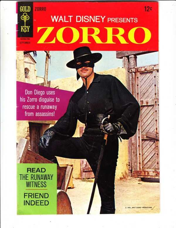 Zorro, Walt Disney Presents #7 (Sep-67) NM- High-Grade Zorro