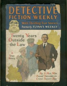 DETECTIVE FICTION WEEKLY PULP-8/11/28-SIGN OF SCORPION G/VG