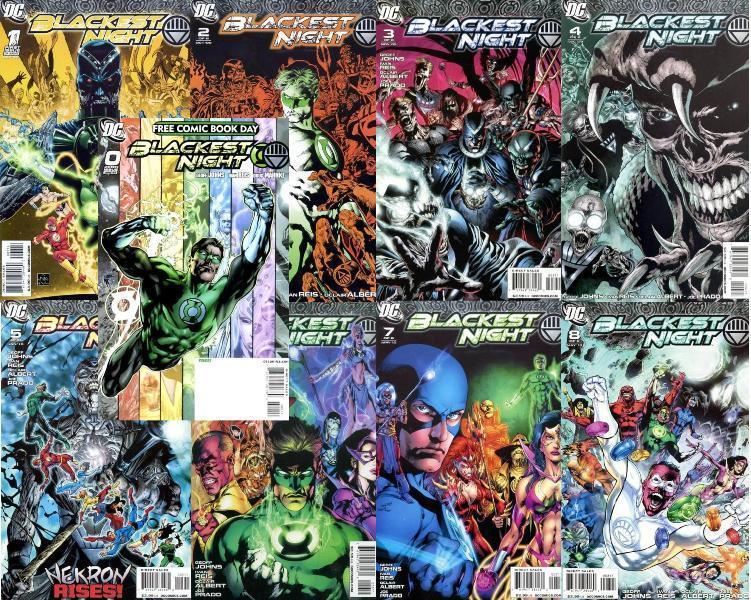 BLACKEST NIGHT (2009) 0-8  the COMPLETE series!