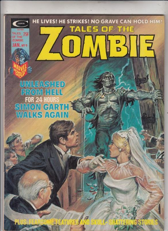 Tales of the Zombie Magazine #9 (Jan-75) VF/NM High-Grade