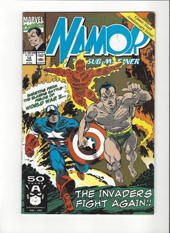 Namor The Sub-Mariner #12 The Invaders John Byrne Story and Art NM