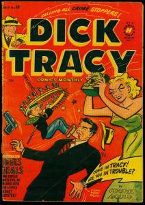 Dick Tracy #53 1952- Harvey Comics- Chester Gould-Snake Torture- VG