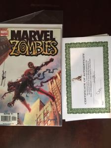 MARVEL ZOMBIES #1 1ST SIGNED SUYDAM COA VF/NM KIRKMAN! CLASSIC COVER!