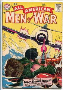 ALL-AMERICAN MEN OF WAR #5-1958-WWII-DC-SILVER AGE-FROGMAN-KUBERT-vg/fn