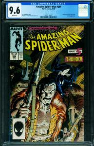 AMAZING SPIDER-MAN #294 CGC 9.6 Death of KRAVEN-1987-2021118017