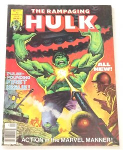 Rampaging Hulk #1 mid high grade (6.5) Marvel Magazine